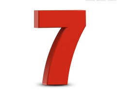 red-number-7